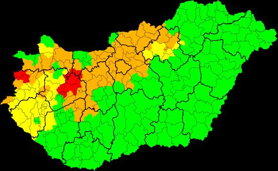 Mai Veszélyjelzések és Riasztások Magyarország területére